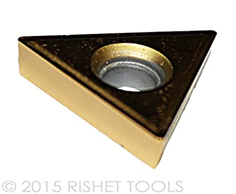 Pack of 10 RISHET TOOLS 11836 TT 321 C5 Multi Layer TiN Coated Solid Carbide Inserts