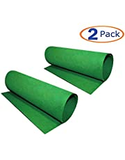 Reptile Carpet, 2 Pack of Bearded Dragon Mat Terrarium Substrate Liner Bedding for Snake Turtle Lizard Geckos Hermit Crabs (24'' X 16'')