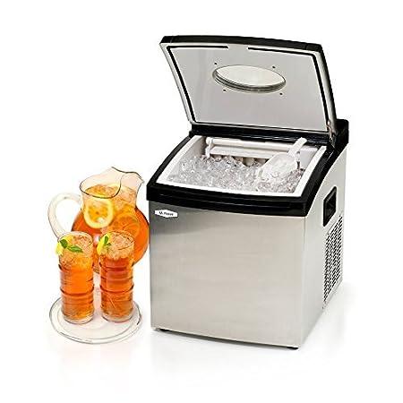 MaxiMatic mim-5802 Señor congelar hielo portátil, acero inoxidable ...