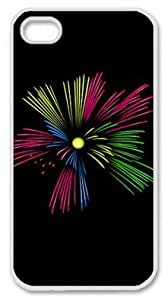 Iphone 4 4s PC Hard Shell Case Beautiful Fireworks White Skin by Sallylotus by runtopwell