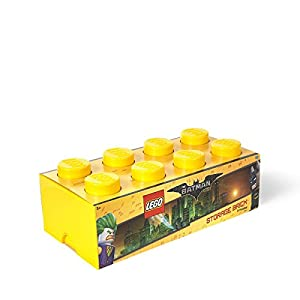 LEGO Batman Storage Brick 8 Bright Yellow