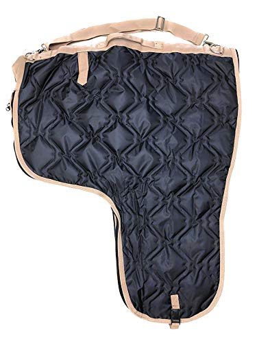AJ Tack Wholesale Western Horse Saddle Carrier Cover Bag Extra Large Poly Fill 420D Padded Black