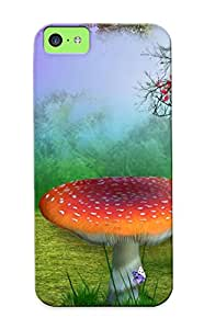 Ellent Design Nature Phantasmagoria Mushroom Buerfly Flowers Phone Case For Iphone 5c Premium Tpu Case For Thanksgiving Day's Gift