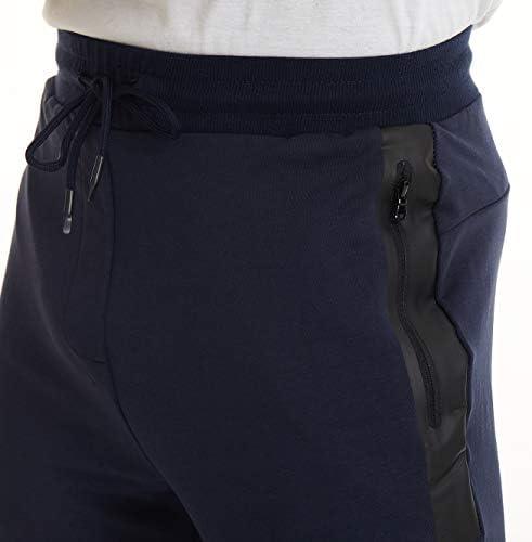 TACVASEN Pantalon Dentra/înement Homme Pantalon Sport Coton Pantalon Jogging Stretch Pantalon D/écontract/é avec Poches Zipp/ées
