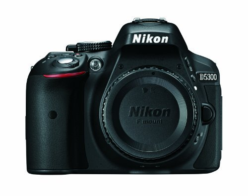 Nikon D5300 24.2 MP CMOS Digital SLR Camera with Built-in Wi-Fi and GPS Body Only (Black) (Nikon D50 Digital Slr Camera)