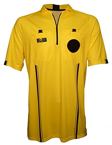 REF GEAR Pro Referee Jersey, Yellow, Small - Pro Referee Jersey