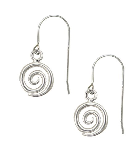 Sterling Silver Mystical Spiral Drop Dangle Earrings