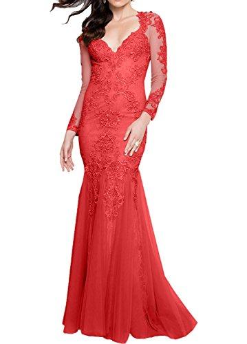 Jugendweihe Marie Bodenlang Spitze Abendkleider Rot Kleider Champagner Langes Damen Brautmutterkleider Braut La 4Rx0OO