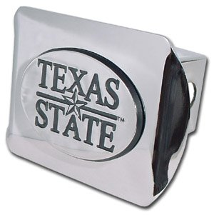 """Texas State University Bobcats """"Bright Polished Chrome with"""