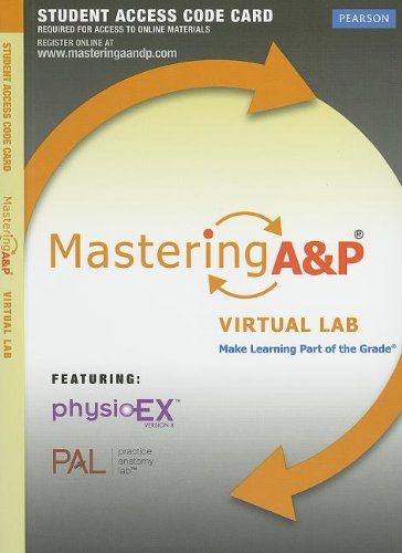 Mastering A&P Virtual Lab without Pearson eText -- Standalone Access Card (MasteringA&P (Access Codes))
