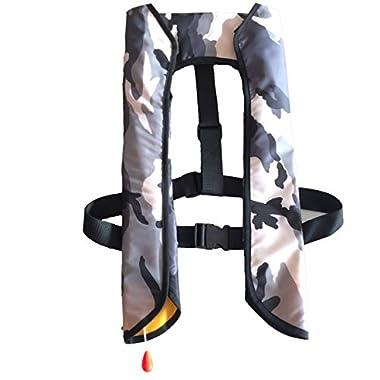 Eyson® Inflatable Life Jacket Life Vest Basic Manual (709 WhiteCamouflage)