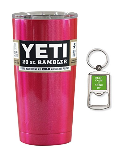Fuchsia Pink Yeti Coolers 20 oz Rambler Tumbler - Insulated Stainless Steel - Beautiful Color!