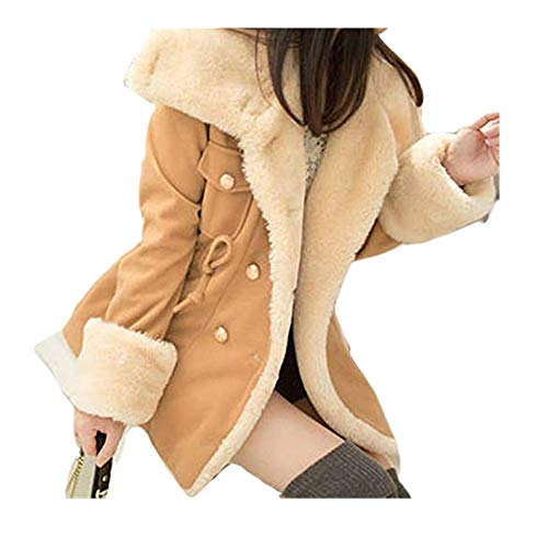 Coat White Double Breasted Knots - Kulywon Winter Warm Double-Breasted Wool Blend Jacket Women Coat