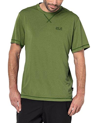 Jack Wolfskin Crosstrail t camiseta de manga corta para hombre, mediana, helecho