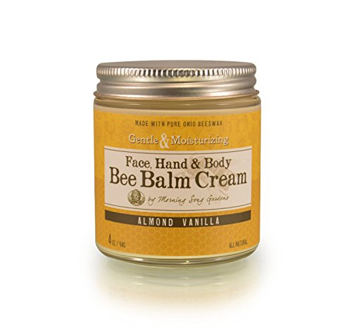 Bee Balm Cream Moisturizer, Almond Vanilla, 4 oz