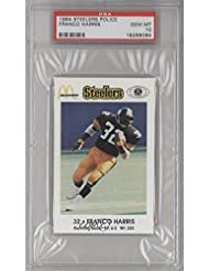 Franco Harris PSA GRADED 10 (Football Card) 1984 McDonald #39;s Pittsburgh Steelers Police - [Base]