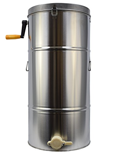 New Two 2 Frame Stainless Steel Bee Manual Crank Honey Extractor SS Honeycomb Spinner Drum (BEE-V002B)