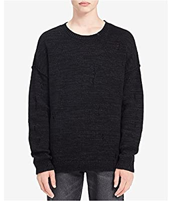 Calvin Klein Jeans Mens Big & Tall Distressed Long Sleeves Pullover Sweater