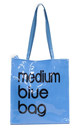 Women's Little / Medium Tote Bag Shoulder Shopper Handbag Medium Blue Bag