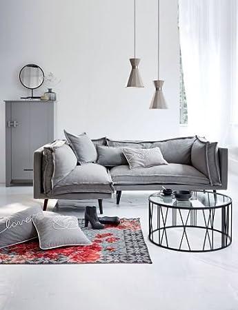 Kasandria Sofa Meliert Grau Rechts Couch Wohnzimmer Schöner