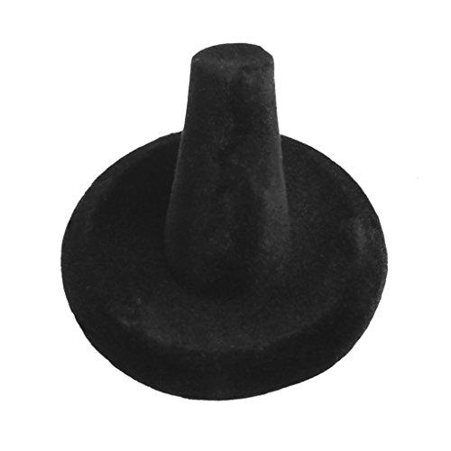 Bettal Single Black Velvet Finger Ring Stand Jewelry Display Rack Holder .5x3cm Showcase Charm