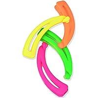 4Pack bright Colored plátano clip de pelo 80s Neón accesorios