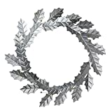"Melrose 18"" Rustic Galvanized Artificial Holly Leaf and Golden Berry Christmas Wreath"