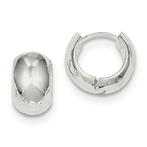 Sterling Silver Huggie-Style Earrings (Approximate Measurements 10mm x 8mm)