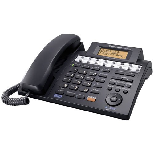 4 Line Integrated Phone System (Panasonic KX-TS4300B 4-Line Integrated Corded Phone System Expandable up to 16 Stations with Speakerphone, Black)
