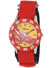 Kids' W000084 Time Teacher Cars Stainless Steel Watch With Red Nylon Band