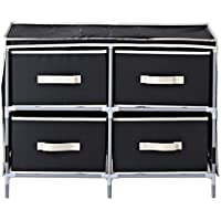 Homestar ZH141796BL 4-Drawer Fabric Dresser