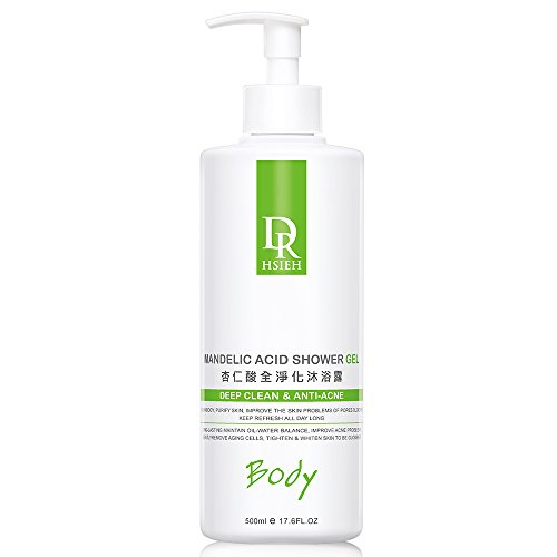 DR.HSIEH Mandelic Acid Shower Gel 17.6 Fl Oz, All Skin Types, Exfoliating and Purifying Effect | Halal Certification ()