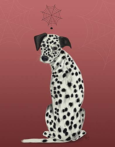 Halloween Dalmatian and Spiders by Fab Funky 23