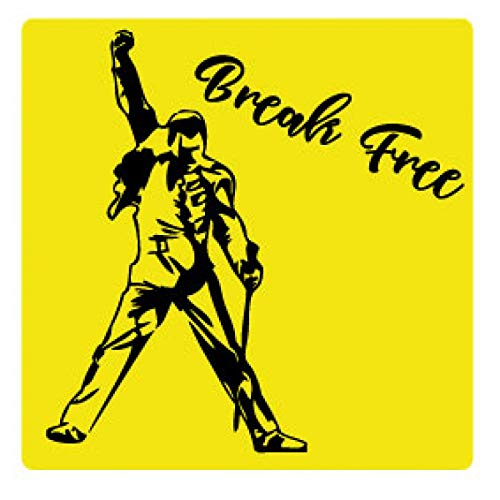 1art1 Music Sticker Adhesive Decal - Break Free (4 x 4 inches) from 1art1
