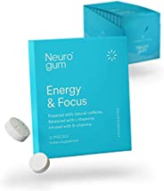 NeuroGum Nootropic Energy Gum | Caffeine + L-theanine + B Vitamins | Sugar Free + Gluten Free + Non GMO + Vega