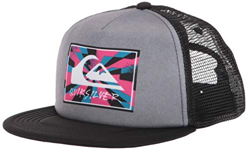 Quiksilver Little JUST for Kicks BOY Trucker HAT, Medium Grey Heather, 1SZ (Little Boys Hat Quiksilver)
