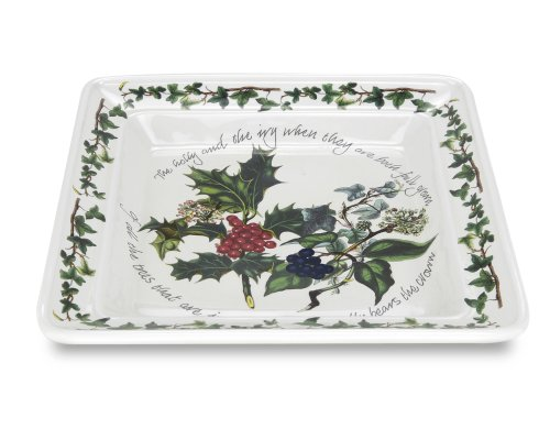 (Portmeirion Holly & Ivy Square Plate 8.5