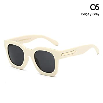 ZHOUYF Gafas de Sol Moda Cool Square Style Arrowed Pablo ...