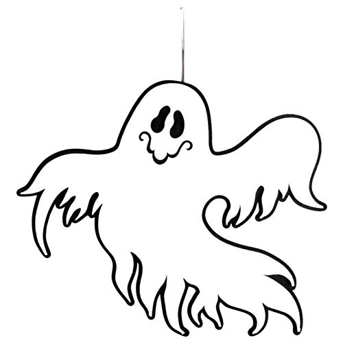 Modern Fence - Indoor And Outdoor Halloween Ghost Hanging Door Decorations Wall Signs Office Party - Decorations Party Party Decorations Halloween Pumpkin Electric Sign Modern Fence Skel -