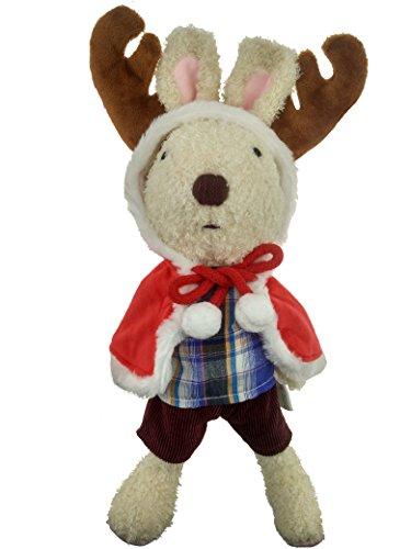 Special Offer for Christmas! Pack of 1 AWESOME Plush Toy Christmas Bunny Rabbit | Reindeer Costume | 12 Inch Stuffed Animal, Baby Kids Doll (Reindeer Baby Costume)