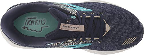 Brooks Women's Adrenaline GTS 19 Navy/Aqua/Tan 5 D US by Brooks (Image #1)