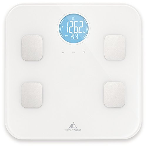 Weight Gurus Bluetooth Body Composition Scale, 8 Profiles, White - Up to 18 Years by Weight Gurus (Image #1)