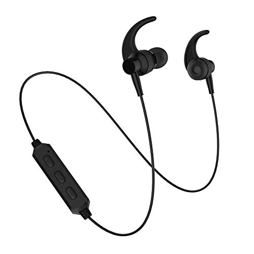 Wireless Bluetooth Earphones, Noice Cancelling Earbuds Earplug Headphones for Sports Runner Workout Headsets with MIC Sweatproof & IPX6 Waterproof Bluetooth 5.0
