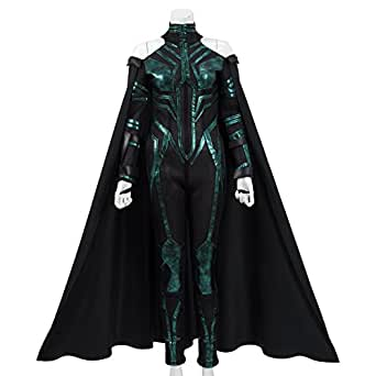 Hela Costume Halloween Cosplay Outfits with Cloak for Women (X-Small)