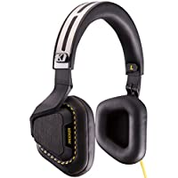 Kicker 41HVM3B2 Vapor 3-Button Premium Headphones with Microphone, Black