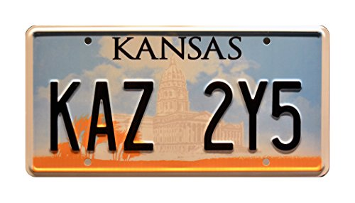 Celebrity Machines Supernatural | Dean Winchester's Metallicar | KAZ 2Y5 | Metal Stamped Vanity Prop License Plate - Kansas License Plate