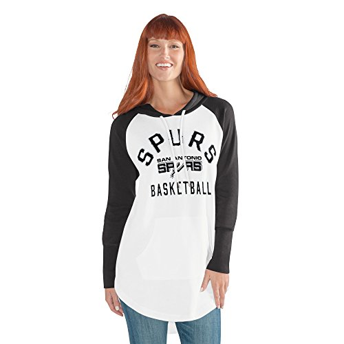 GIII For Her NBA San Antonio Spurs Women's All Division Hoody, XX-Large, White/Black