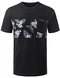 URBANCREWS Mens Hipster Hip Hop Anchor Stars Chest Pocket T-shirt STAR SMALL