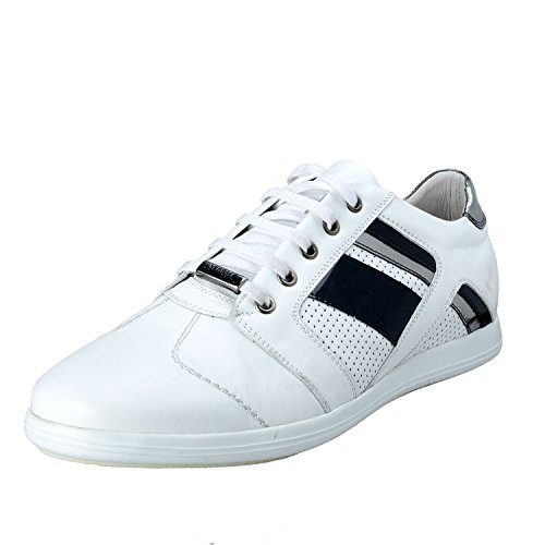Versace-Collection-Mens-White-Leather-Fashion-Sneakers-Shoes-US-9-IT-42