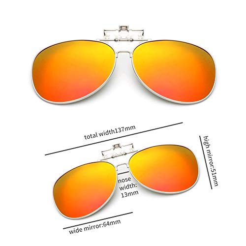 GAMT Clip-on Sunglasses, Retro Polarized Clip-on Flip-up Sunglasses for Driving Traveling Party Fishing Orange